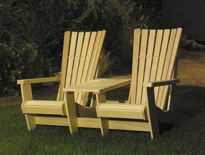 Photo - This Adirondack-style twin-seater is a great way to enjoy the outdoors. Photo provided