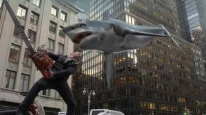 Photo - SHARKNADO 2: THE SECOND ONE -- Pictured: Ian Ziering as Fin Shepard -- (Photo by: Syfy)