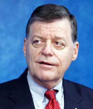 Photo - U.S. Rep. Tom Cole, R-Moore, announces he will seek re-election in the Fourth Congressional District during a press conference at the state Capitol in Oklahoma City Tuesday, June 1, 2010. Photo by Paul B. Southerland, The Oklahoman