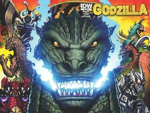 Photo -  Godzilla, drawn by Matt Frank. IDW Publishing   <strong></strong>