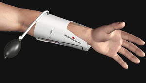 photo - The FDA has approved Dr. Robert Perry's EZ Vein device, which is designed to ease the job of inserting an intravenous catheter. PHOTO PROVIDED