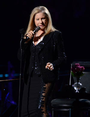 Photo -   Singer Barbra Streisand kicks off her concerts at the Barclays Center in the Brooklyn borough of New York, on Thursday Oct. 11, 2012 (Photo by Evan Agostini/Invision/AP)