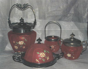 Photo - This Victorian ruby satin glass table set is worth $400 to $500. Photo provided <strong></strong>
