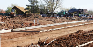 photo - Streets were poured this week for Glenbrook Park, a new housing addition under way on the north side of NW 63 between Pannsylvania and Grand avenues in Nichols Hills. Developers say landscaping is next and that the 5 acres should be fully developed and ready for construction in December. <strong>PAUL B. SOUTHERLAND - The Oklahoman</strong>
