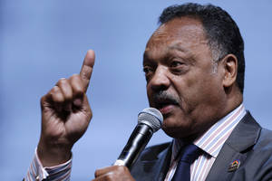 Photo - FILE - In this Friday, July 26, 2013, file photo, the Rev. Jesse Jackson speaks as he takes part in a panel discussion during the National Urban League's annual conference, in Philadelphia. Jackson plans to lead a delegation to the Hewlett Packard annual shareholder meeting on Wednesday, March 19, 2014, to bring attention to Silicon Valley's poor record of including blacks and Latinos in hiring, board appointments and startup funding. (AP Photo/Matt Rourke, File)