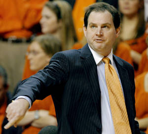 Photo - Former OSU coach Sean Sutton is on board with an end to coaches-in-waiting. Photo by The Oklahoman Archive