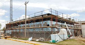 Photo - An addition to the Canadian County jail is under construction in El Reno.  Photo by Paul B. Southerland, The Oklahoman <strong>PAUL B. SOUTHERLAND</strong>