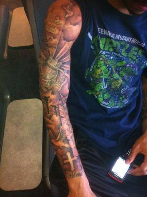photo - Thunder guard Eric Maynor posted this picture of his new tattoo to his Twitter page Tuesday morning. <strong></strong>
