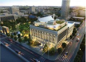 Photo -       RENDERING / RENOVATE / RENOVATION: The Journal Record Building in downtown Oklahoma City will be renovated into office space with a new glass-encased fifth floor as shown in this rendering.  <strong>PROVIDED</strong>
