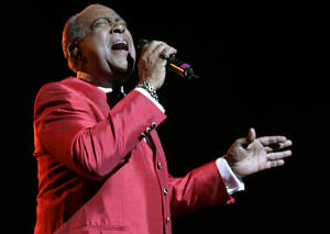 Photo - FILE - In this  June 20, 2008, file photo, Cheo Feliciano performs at The Theater at Madison Square Garden, in New York.  The Puerto Rican salsa legend Feliciano died in a car accident early Thursday April 17, 2014, in the U.S. territory. He was 78. (AP Photo/Frank Franklin II, File)
