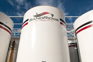 Photo - A SandRidge Energy Inc. oil tank battery located near Alva is pictured. <strong> - provided</strong>