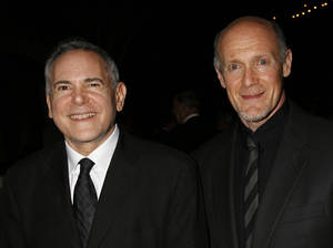 "Photo - FILE - This Nov. 15, 2007 file photo shows Craig Zadan, left, and Neil Meron, producers of the film ""Hairspray"" at the Santa Barbara International Film Festival's in Santa Barbara, Calif. Academy Awards producers Zadan and Meron announced Monday, Feb. 11, 2013, that Renee Zellweger, Catherine Zeta Jones, Queen Latifah and Richard Gere will return to the stage where ""Chicago"" won best picture in 2003. Zadan and Meron also produced the film. The 85th annual Academy Awards will be presented Feb. 24, 2013, at the Dolby Theatre and broadcast live on ABC.  (AP Photo/Michael A. Mariant, File)"