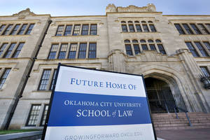 Photo - The old Central High School at NW 8 and Robinson is set to become home to OCU Law School for the spring, 2015 semester. <strong>Jim Beckel - THE OKLAHOMAN</strong>
