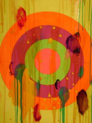 "Photo - ""Pop Target"" painting by Ford Beckman. Photo provided"