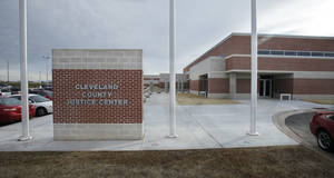 photo - CLEVELAND COUNTY JAIL / DEDICATE / DEDICATED / DEDICATION: Cleveland County Sheriff Joe Lester and county commissioners dedicate the F. DeWayne Beggs Detention Center on Friday, Jan. 27, 2012, in Norman, Okla.   Photo by Steve Sisney, The Oklahoman