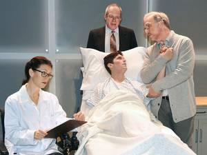"Photo - Clockwise from left, Stacey Logan, Michael Jones, Jonathan Beck Reed and Matthew Alvin Brown star in the Oklahoma City Repertory Theatre production of ""The Normal Heart.""  Photo by  Wendy Mutz,  for The Oklahoman"