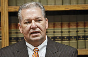 photo - Oklahoma County district attorney David Prater addresses the media during a press conference at the Oklahoma County Office Building on Friday, Sept. 3, 2010, in Oklahoma City, Okla.   Photo by Chris Landsberger, The Oklahoman ORG XMIT: KOD