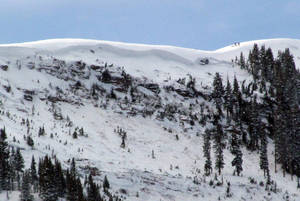 Photo - One person was killed and three injured in an avalanche on Tuesday, Jan. 7, 2014, in the East Vail Chutes in the back country outside of Vail Mountain's ski boundary near Vail, Colo.