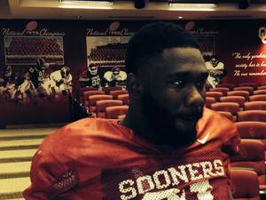 Photo - Charles Tapper had to cut off his dreds this week. PHOTO COURTESY OU SPORTS INFORMATION <strong></strong>