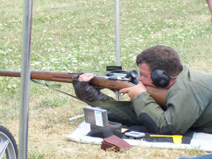 Photo -  A competitor shoots a vintage bolt action rifle in a Civilian Marksmanship Program match. Photo provided      <strong> -   </strong>