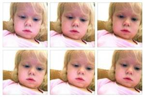 Photo - This January 2014 screen grab shows a photo collage provided by Brandi Koskie of her daughter, Paisley, 3, in selfies that Paisley shot on her mother's phone in an unsupervised moment at her Wichita, Kansas home. An increasing number of parents of toddlers are finding their tech-savvy 2- and 3-year-old kids are obsessed with selfies. (AP Photo/Brandi Koskie)