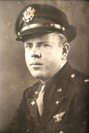 "Photo - Capt. Lloyd Mitchell served on the ""Kipling's Error III,"" a B-17 bomber, during World War II."