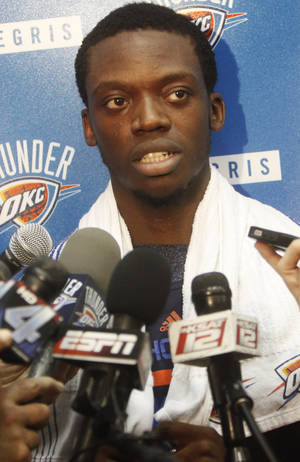 Photo -                    The Thunder can now negotiate a contract extension with Reggie Jackson, its top reserve and backup point guard.                     Photo by KT King, The Oklahoman