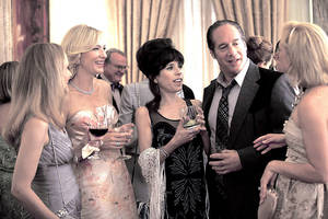 "Photo - In this film image released by Sony Pictures Classics shows, from second left, Cate Blanchette, Sally Hawkins, and Andrew Dice Clay in a scene from the Woody Allen film, ""Blue Jasmine.""  (AP Photo/Sony Pictures Classics) ORG XMIT: NYET119"
