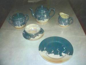 Photo - Porcelain tea set. <strong></strong>