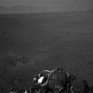 Photo -   This image released by NASA on Wednesday Aug. 8, 2012 taken by cameras aboard the Curiosity rover shows the Martian horizon. It's one of dozens of images that will be made into a panorama. Curiosity landed on August 5, 2012 on a two-year mission to study whether its landing site ever could have supported microbial life. (AP Photo/NASA)