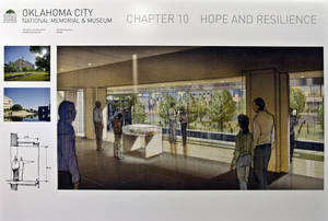 Photo - Artist rendering of a second story overlook at the Memorial Museum at the Oklahoma City National Memorial & Museum.  <strong>CHRIS LANDSBERGER - CHRIS LANDSBERGER, ARCHIVES</strong>