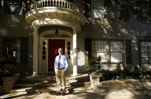 Photo - Wade Toalson shows his home at 1219 NW 20, one of several stops on Sunday's Gatewood Historic District Home and Garden Tour.  Photo by SARAH PHIPPS, The Oklahoman