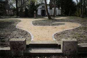 Photo - A view to the new designed part of the Georgen Parochial Cemetery in central district Mitte of Berlin Tuesday April 1, 2014.  A new burial area for lesbians only is being inaugurated in the two-century-old cemetery in the German capital this weekend. A 400-square meter (yard) area will be reserved as a graveyard for up to 80 lesbians.  (AP Photo/Markus Schreiber)