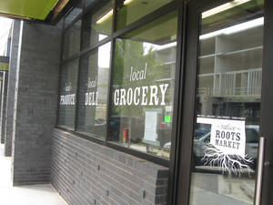 Photo - Native Roots Market on the first floor of Level Urban Apartments, NE 2 and Walnut, is set to open up next month. <strong>Steve Lackmeyer</strong>