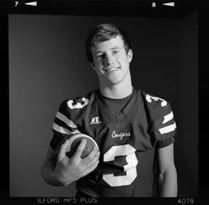 photo - All-State high school football player Easton Pingleton of Ada poses for a photo in Oklahoma City,  Monday, Dec. 17, 2012. Photo by Nate Billings, The Oklahoman