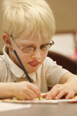 Photo -  Max Bacharach, 5, works on a photo-realism art project during art camp at the Oklahoma City Museum of Art. Photo By Steve Gooch, The Oklahoman <strong>Steve Gooch - The Oklahoman</strong>