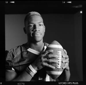 photo - All-State high school football player Jordan Smallwood of Jenks poses for a photo in Oklahoma City, Monday, Dec. 17, 2012. Photo by Nate Billings, The Oklahoman