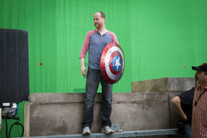 Photo - Director Joss Whedon on set.  Marvel photo. <strong></strong>