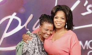 Photo -  Oprah Winfey embraces Tererai Trent.      <strong> -  Photo provided by OSU </strong>