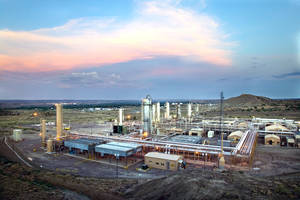 photo - Williams Partners LP's Milagro natural gas processing facility near Bloomfield, N.M.