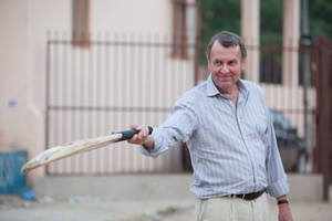Tom Wilkinson as ?Graham&quot; on the set of &quot;The Best Exotic Marigold Hotel.&quot;