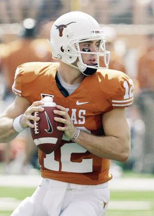 photo - Texas quarterback Colt McCoy finished second in the Heisman Trophy balloting last year.  AP PHOTO