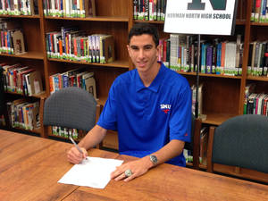 Photo - Norman North soccer standout Mauro Cichero signed with SMU on Friday. PHOTO BY JACOB UNRUH, THE OKLAHOMAN