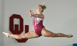 Photo - University of Oklahoma (OU) gymnast Brie Olson on Wednesday, March 30, 2011, in Norman, Okla.   Photo by Steve Sisney, The Oklahoman ORG XMIT: KOD <strong>STEVE SISNEY - THE OKLAHOMAN</strong>