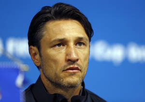 Photo - Croatia's coach Niko Kovac addresses the media during a press conference after an official training session the day before the group A World Cup soccer match between Brazil and Croatia in the Itaquerao Stadium Sao Paulo       , Brazil, Wednesday, June 11, 2014.  (AP Photo/Kirsty Wigglesworth)