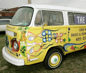 Photo - Chad Moody's Volkswagen bus is shown in this March 27, 2007, file photo.  PHOTO BY STEVE GOOCH, THE OKALHOMAN ARCHIVE