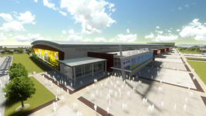 Photo - An artist's rendering shows the proposed Travel & Transportation exhibit hall at State Fair Park. Image provided by Oklahoma State Fair Inc.