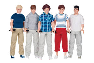 "Photo -   This undated product image provided by Toys R Us shows One Direction collector dolls by Hasbro, an item on Toys R Us' ""Hot Toy"" list. Toys R Us, a Wayne, N.J.-based retailer is introducing a ""hot toy"" reservation program beginning Wednesday, Sept. 18, 2012. Under the system, Toys R Us will offer parents the opportunity to reserve the 50 toys on its ""hot toy"" list. (AP Photo/Toys R Us)"