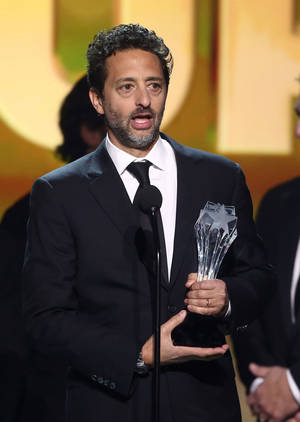 """Photo - Grant Heslov accepts the award for best picture for """"Argo"""" at the 2013 Critics' Choice Movie Awards in Santa Monica, Calif.  AP File photo <strong>Matt Sayles - Matt Sayles/Invision/AP</strong>"""
