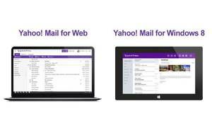 Photo - In this undated image made available by Yahoo the company's recently retooled free email service is shown on a web device and tablet. Aside from the new look aimed at regaining some of the ground Yahoo lost to Google's popular alternative, Yahoo introduced Tuesday, Dec. 11, 2012, email apps for the iPhone, iPad and mobile devices running on the new Windows 8 operating system. (AP Photo/Yahoo)